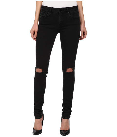 Mavi Jeans - Adriana in Black Ripped Super (Black Ripped Super) Women