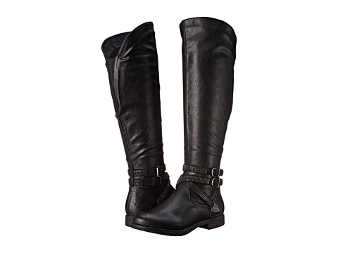 Yellow Box - Cathee (Black Silver) Women's Pull-on Boots