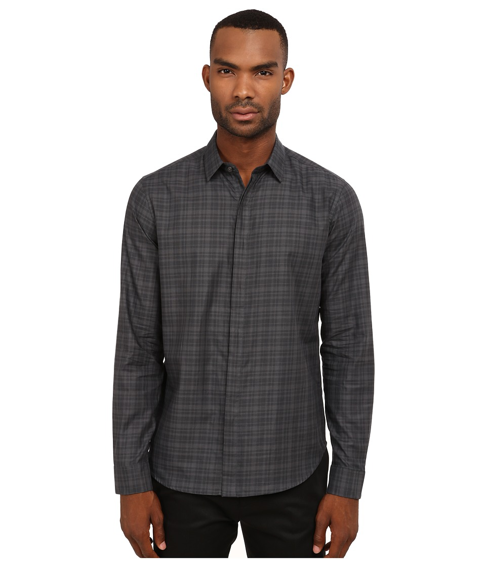 Theory - Zack FF.Daulton Button Up (Deep Titanium) Men's Clothing