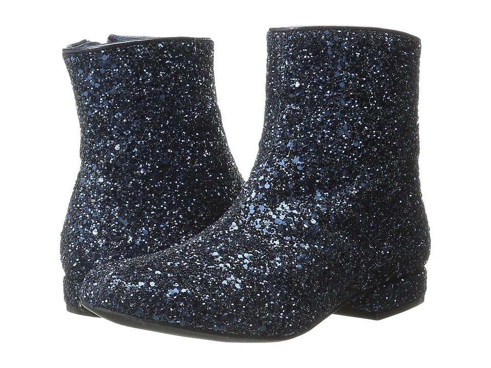 Little Marc Jacobs - Sequin Glitter Booties (Toddler/Little Kid/Big Kid) (Navy) Girls Shoes