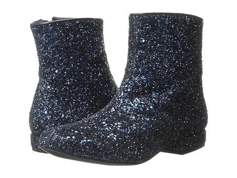 Little Marc Jacobs - Sequin Glitter Booties (Toddler/Little Kid/Big Kid) (Navy) Girls Shoes