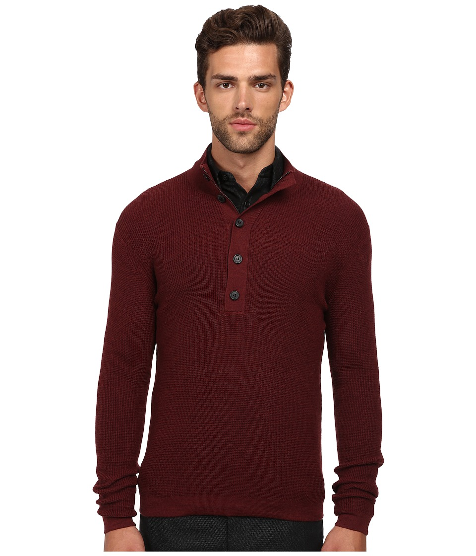 Theory - Villen.Cashwool Sweater (Light Claret) Men's Sweater