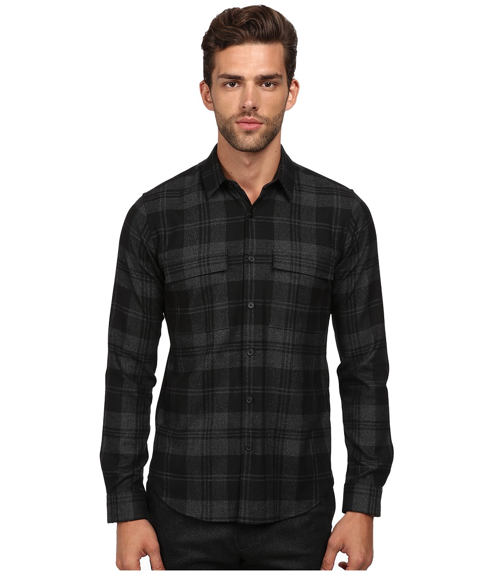Theory - Mikon.Elmsford Button Up (Black) Men's Sweater