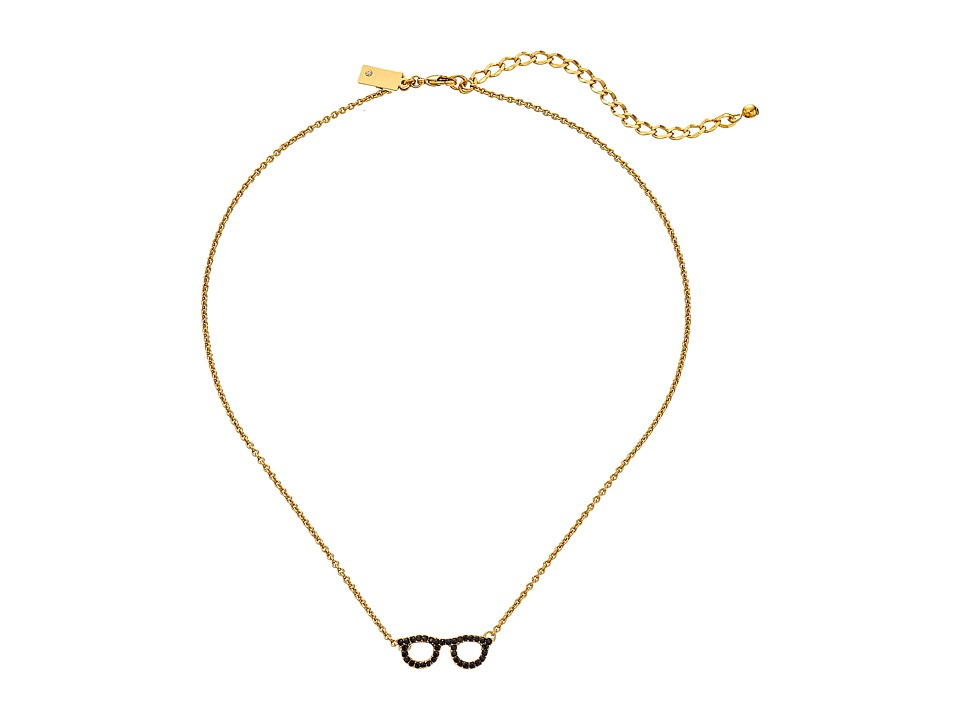 Kate Spade New York - Things We Love Goreski Glasses Necklace (Jet) Necklace