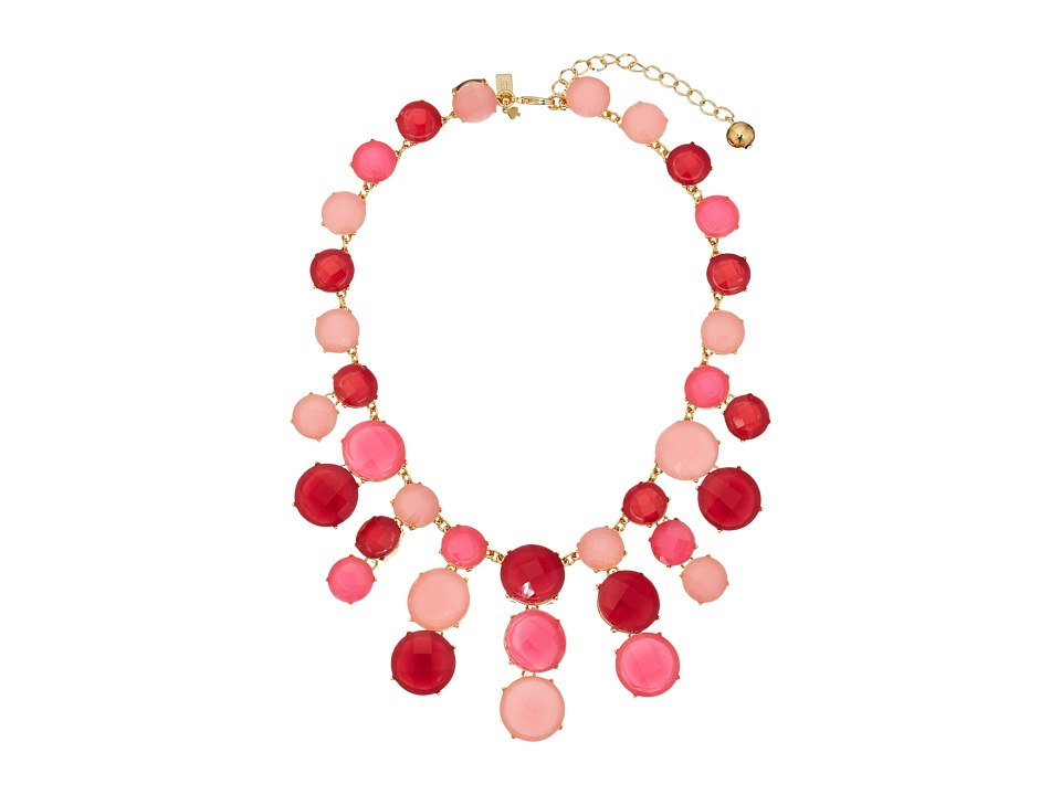 Kate Spade New York - Smell The Roses Statement Necklace (Bright Pink/Multi) Necklace