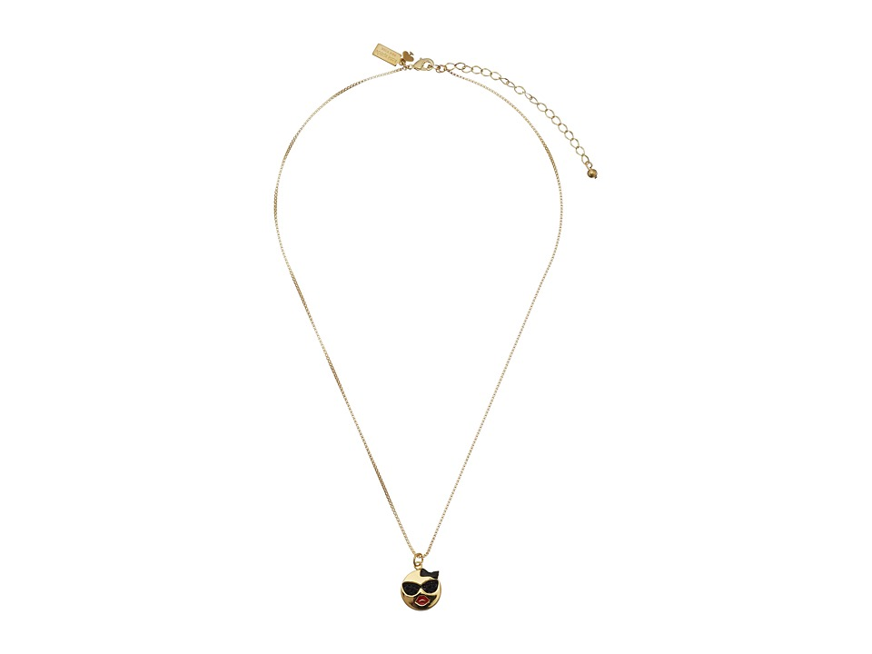 Kate Spade New York - Tell All Sunglasses Emoji Pendant Necklace (Red/Multi) Necklace