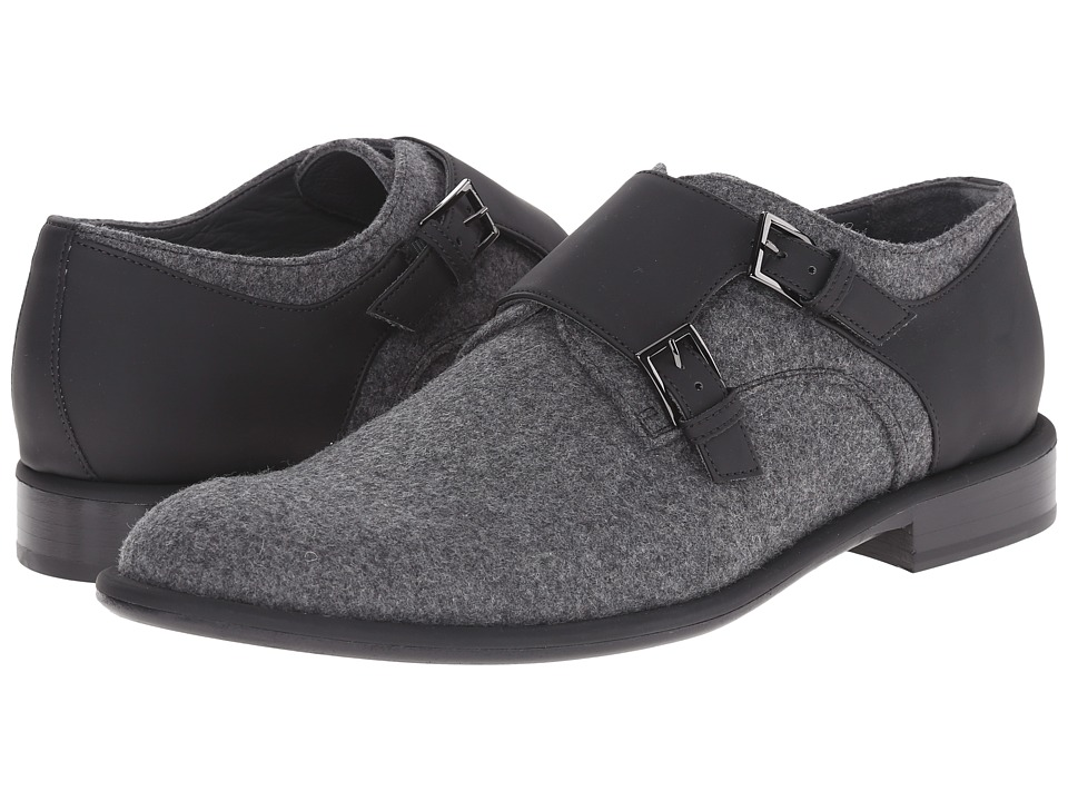Viktor & Rolf - Signature VR Felt Double Monkstrap (Grey) Men