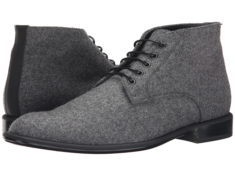 Viktor & Rolf - Signature VR Felt Chukka Boot (Grey) Men's Boots