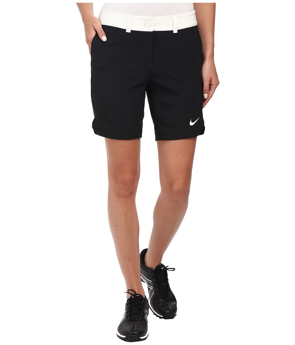 Nike Golf - Greens Color Block Shorts (Black/Summit White/Summit White) Women