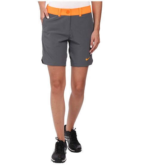 Nike Golf - Greens Color Block Shorts (Dark Grey/Bright Citrus/Bright Citrus) Women