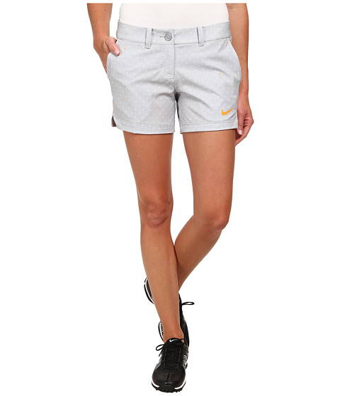Nike Golf - Greens Print Shorty Shorts (Wolf Grey/Summit White/Bright Citrus) Women's Shorts