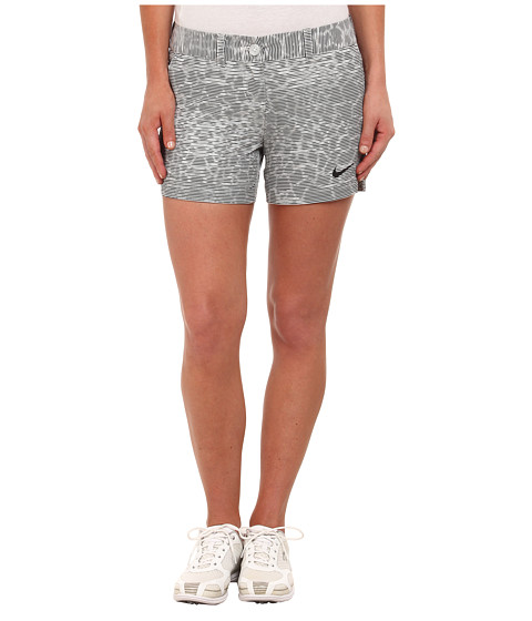 Nike Golf - Greens Print Shorty Shorts (Summit White/Black/Black) Women's Shorts