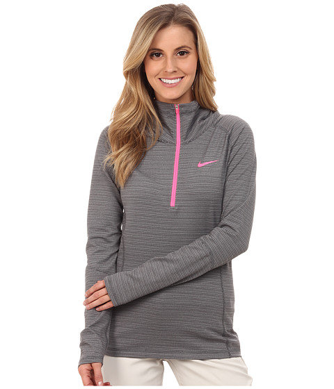 Nike Golf - Warm 1/2 Zip (Dark Grey/Wolf Grey/Heather/Pink Pow) Women