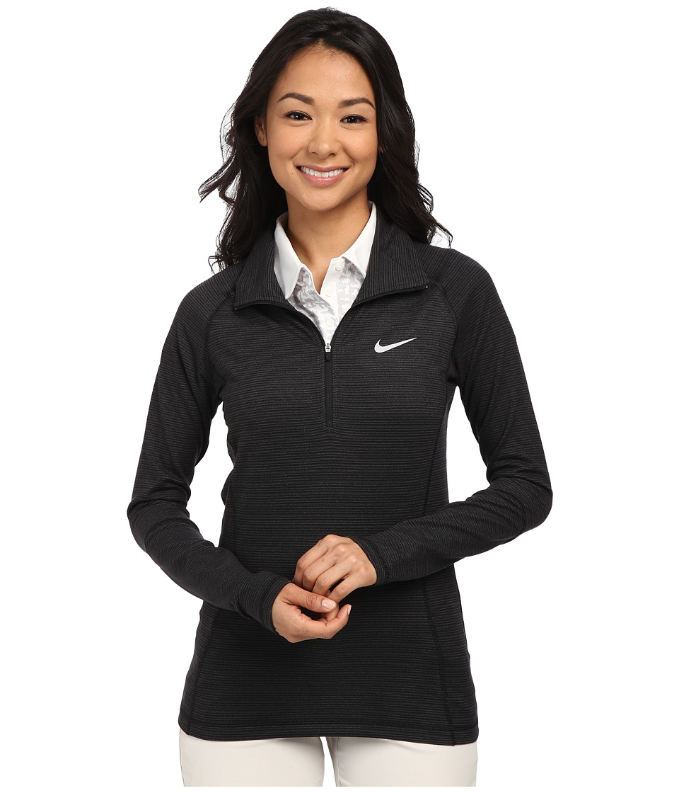 Nike Golf - Warm 1/2 Zip (Black/Dark Grey/Heather/Wolf Grey) Women's Clothing