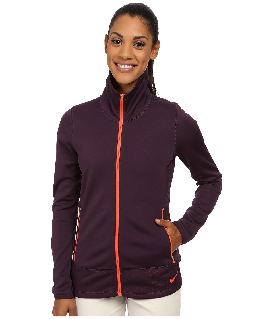 Nike Golf - Thermal Full Zip Jacket (Noble Purple/Bright Crimson/Bright Crimson) Women