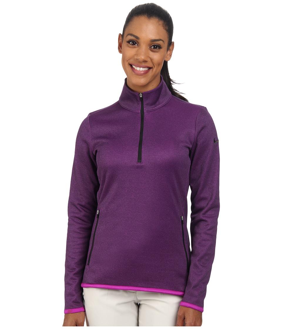 Nike Golf - Thermal 1/2 Zip (Vivid Purple/Heather/Black) Women's Clothing