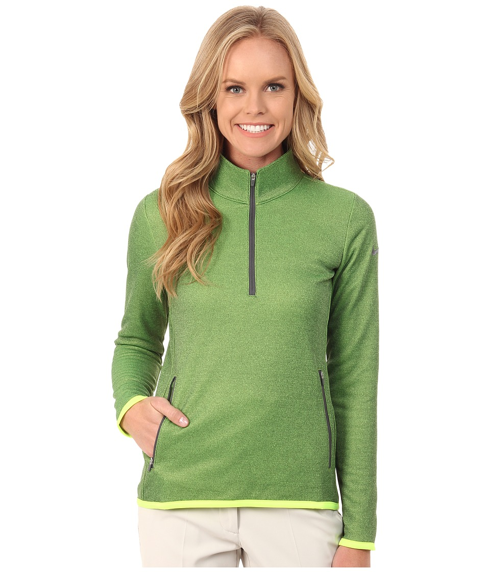 Nike Golf - Thermal 1/2 Zip (Volt/Heather/Dark Grey) Women's Clothing