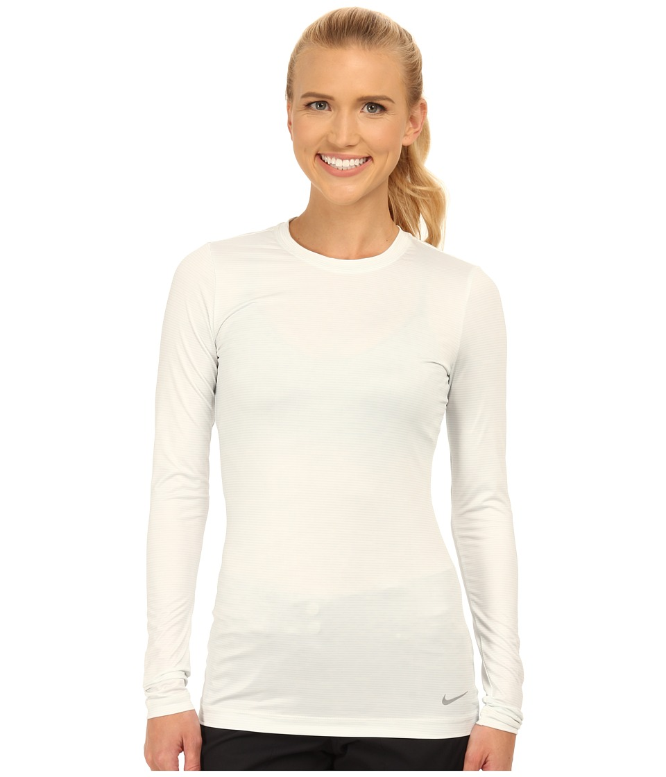 Nike Golf Crew Baselayer (Summit White/Pure Platinum/Reflect Silver) Women
