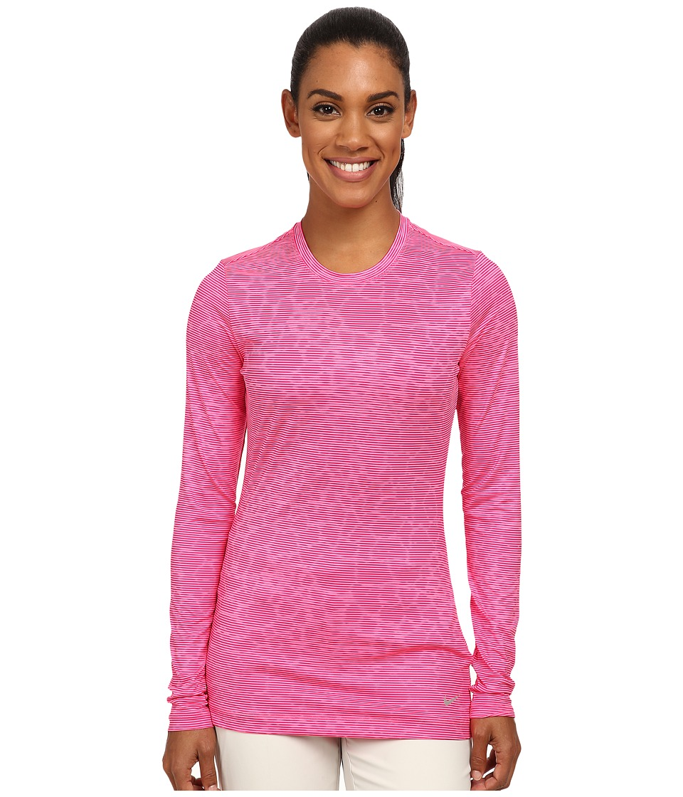 Nike Golf - Crew Baselayer (Pink Pow/Sport Fuchsia/Reflect Silver) Women's Clothing