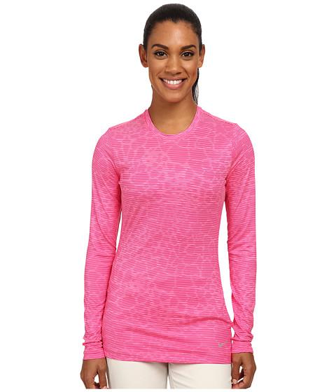 Nike Golf - Crew Baselayer (Pink Pow/Sport Fuchsia/Reflect Silver) Women