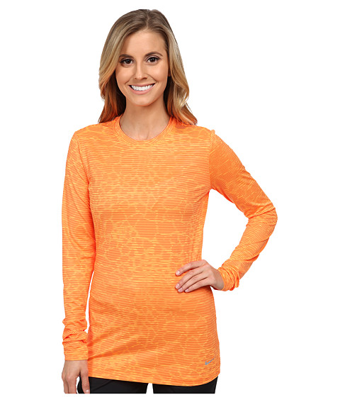 Nike Golf - Crew Baselayer (Bright Citrus/Electro Orange/Reflect Silver) Women