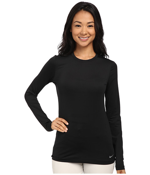 Nike Golf - Crew Baselayer (Black/Reflect Silver) Women