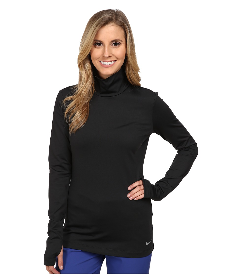 Nike Golf - Warm Mock Baselayer (Black/Reflect Silver) Women's Clothing