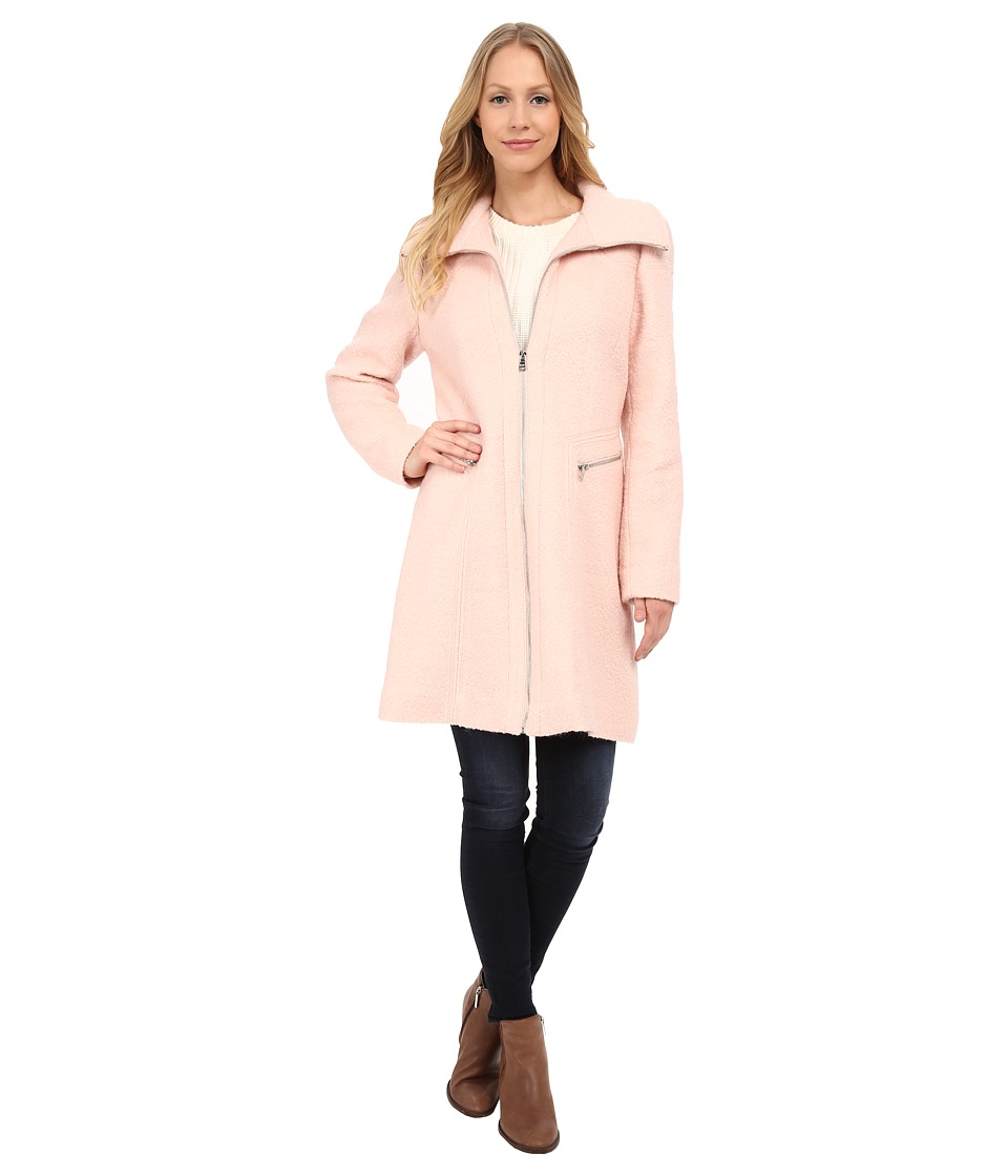 Jessica Simpson - Fit Flare Boucle Coat (Blush) Women's Coat
