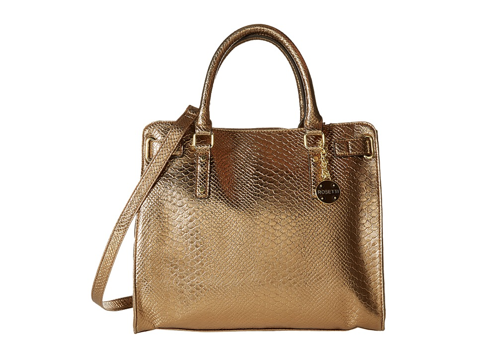 Rosetti - Madeline Double Handle Dome Tote (Gold Cedar Snake) Tote Handbags