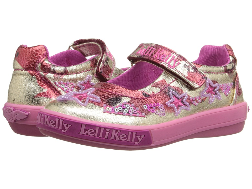 Lelli Kelly Kids - Star Dolly (Toddler/Little Kid) (Metallic Red/Gold) Girls Shoes