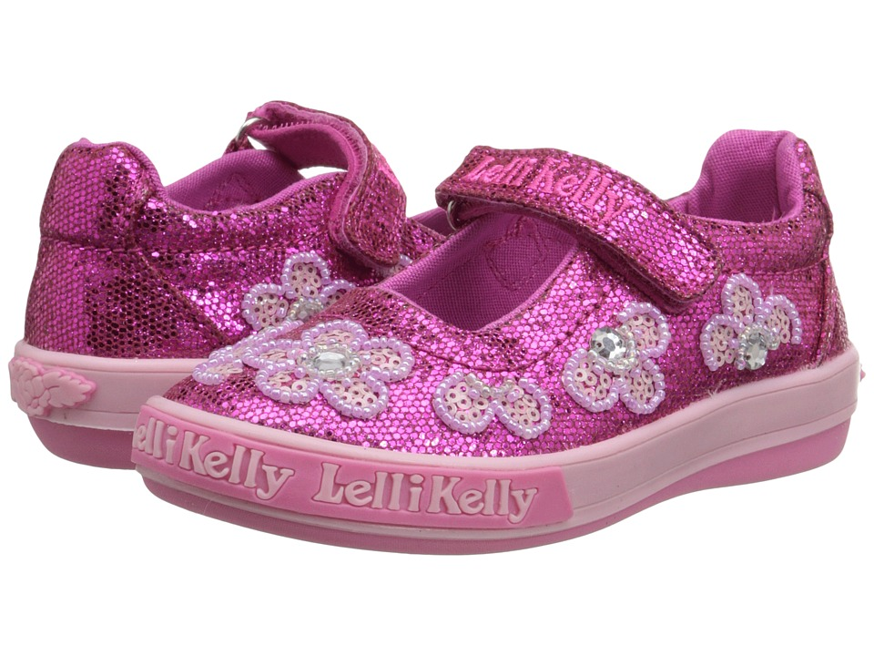 Lelli Kelly Kids - Fiore Dolly (Toddler/Little Kid) (Fuchsia Glitter) Girls Shoes