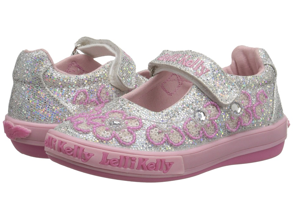 Lelli Kelly Kids - Fiore Dolly (Toddler/Little Kid) (Silver Glitter) Girls Shoes