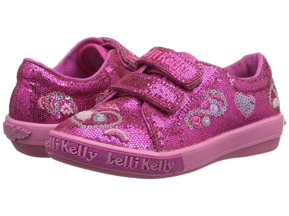 Lelli Kelly Kids - Hearts HL (Toddler/Little Kid) (Fuchsia Glitter) Girls Shoes