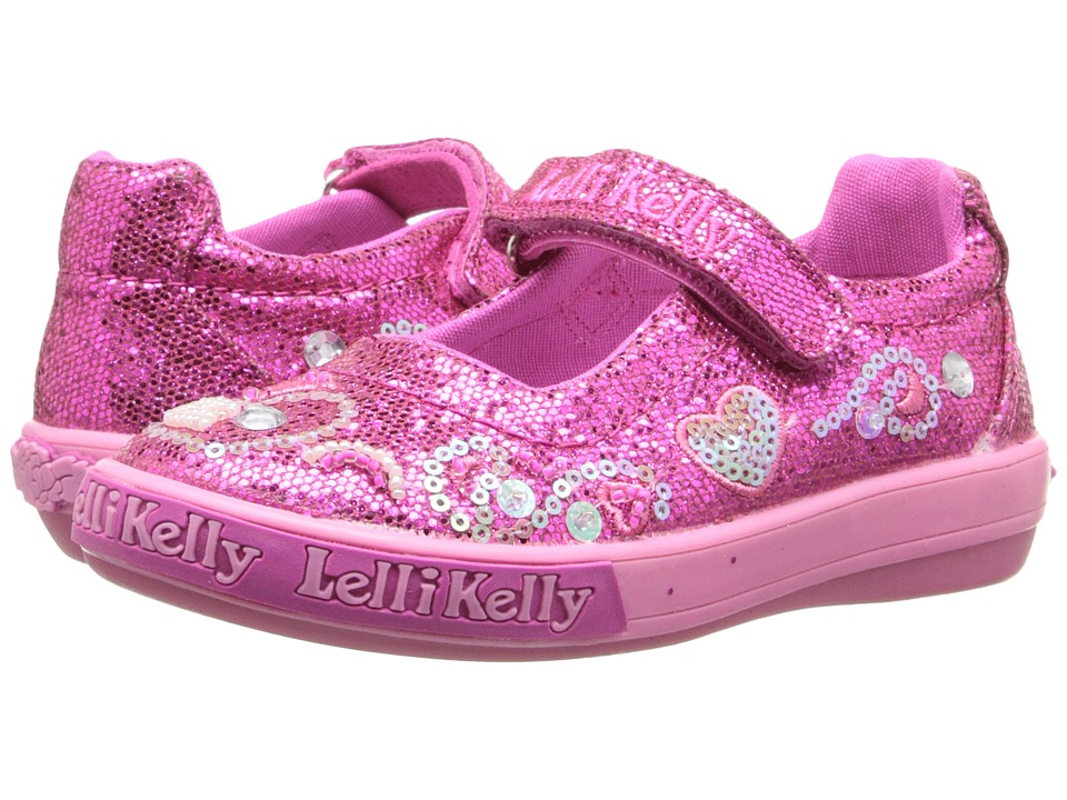 Lelli Kelly Kids - Hearts Dolly (Toddler/Little Kid) (Fuchsia Glitter) Girls Shoes