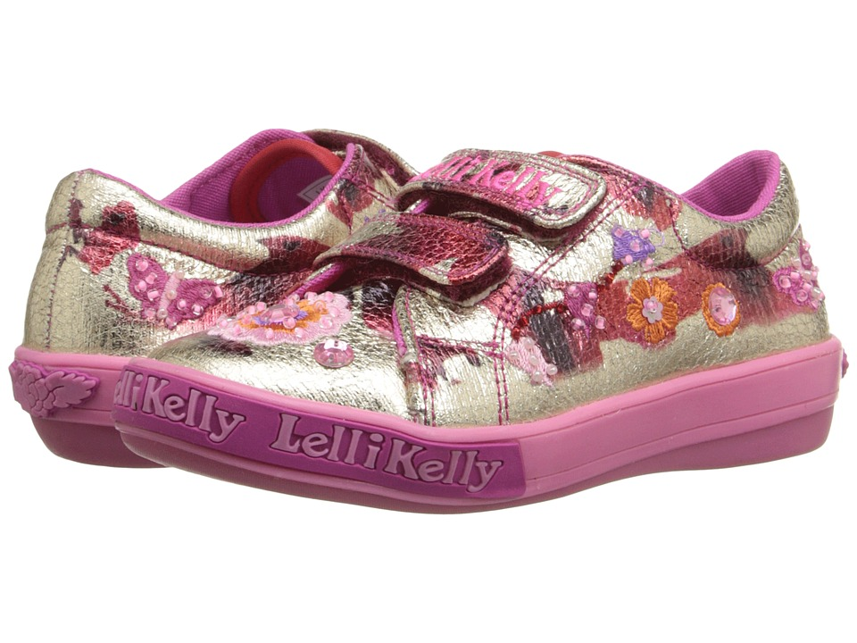 Lelli Kelly Kids - Rose Velcro (Toddler/Little Kid) (Metallic Red/Gold) Girls Shoes