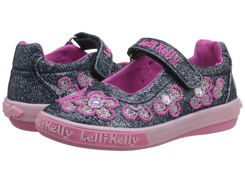 Lelli Kelly Kids - Fiore Dolly (Toddler/Little Kid) (Navy Glitter) Girls Shoes