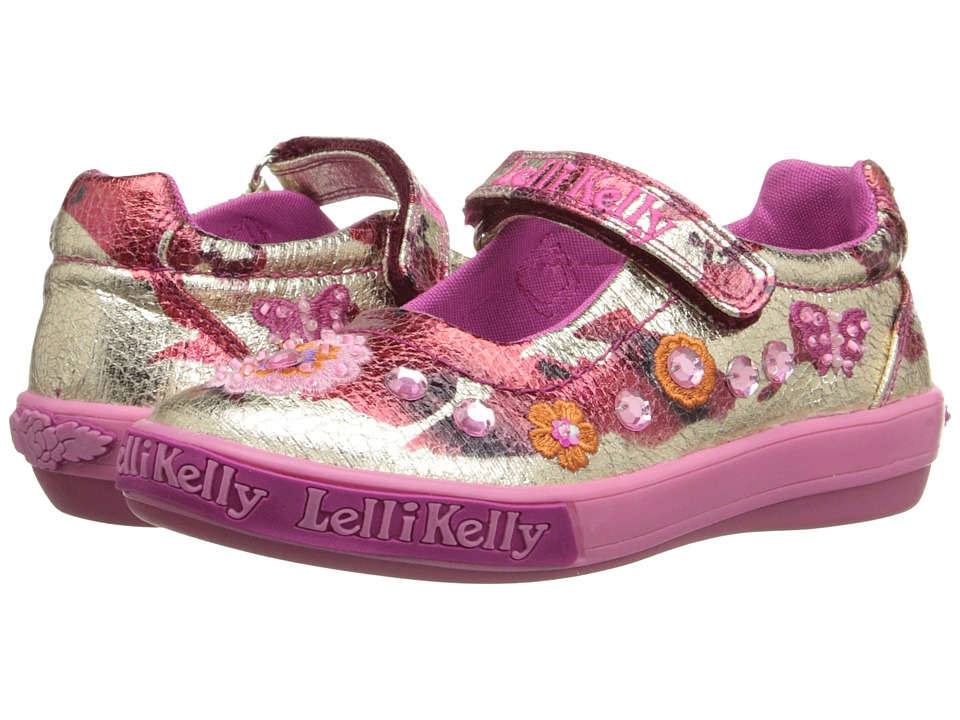 Lelli Kelly Kids - Rose Dolly (Toddler/Little Kid) (Metallic Red/Gold) Girls Shoes