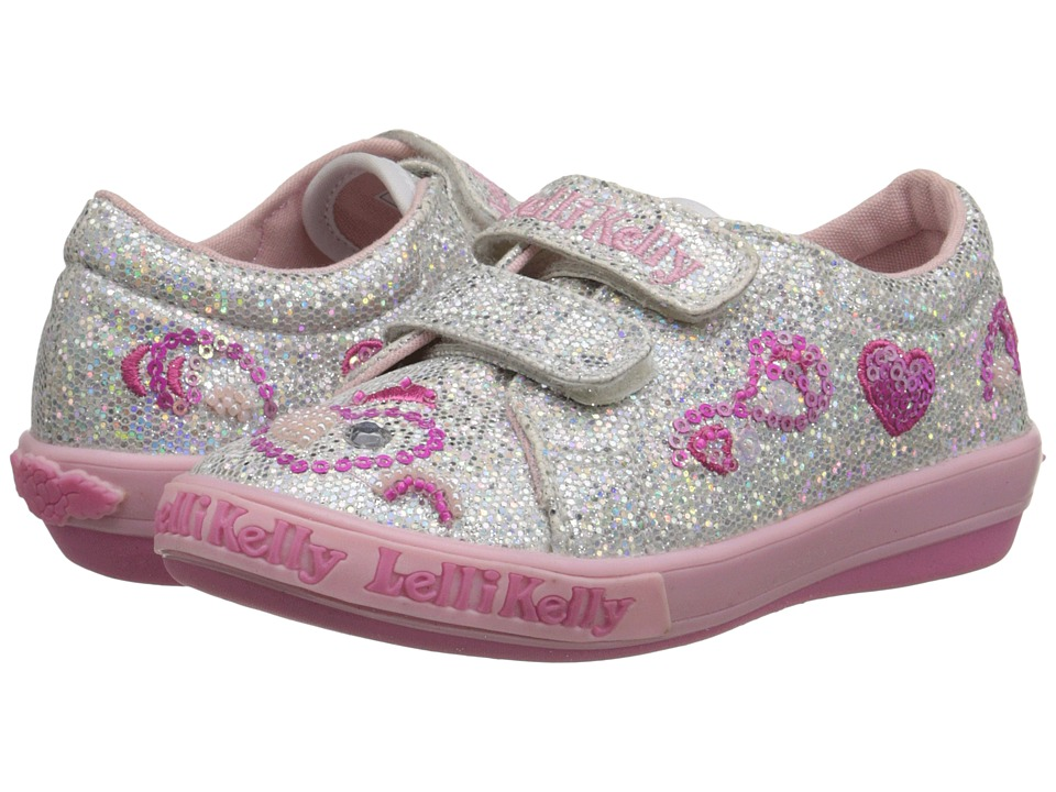 Lelli Kelly Kids - Hearts HL (Toddler/Little Kid) (Silver Glitter) Girls Shoes