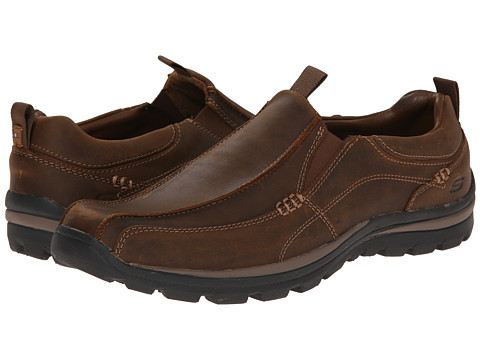 SKECHERS - Superior Haute (Dark Brown) Men's Slip on Shoes