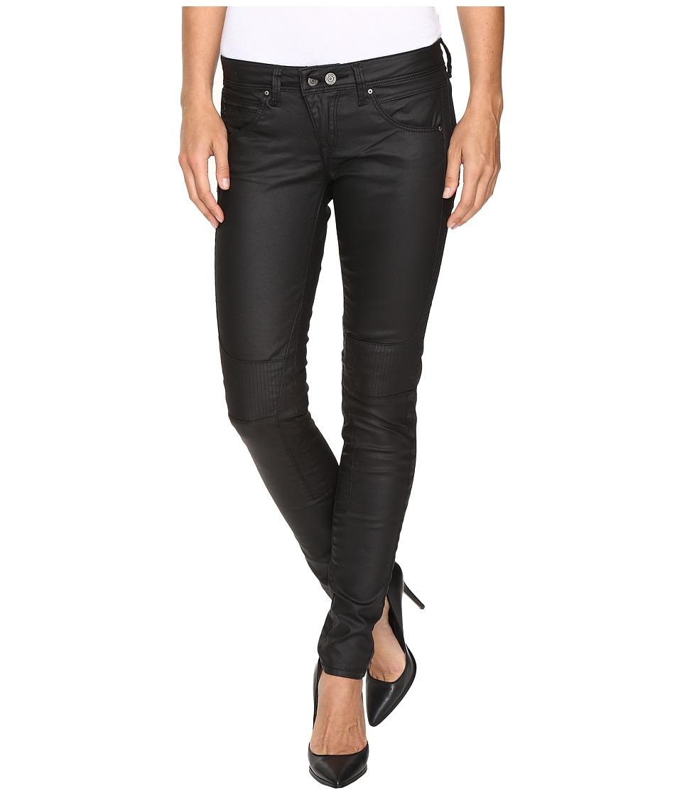 Mavi Jeans - Chloe Coated in Black Jeather (Black Jeather) Women's Jeans