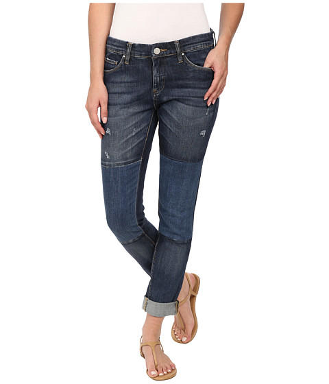 Blank NYC - Denim Patchwork Slim Boyfriend in Blue (Blue) Women's Jeans