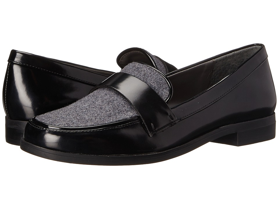 Franco Sarto - Valera (Black/Flannel) Women's Slip-on Dress Shoes