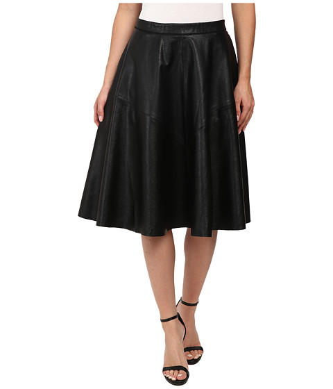 Blank NYC - Vegan Leather A Line Skirt (Black) Women