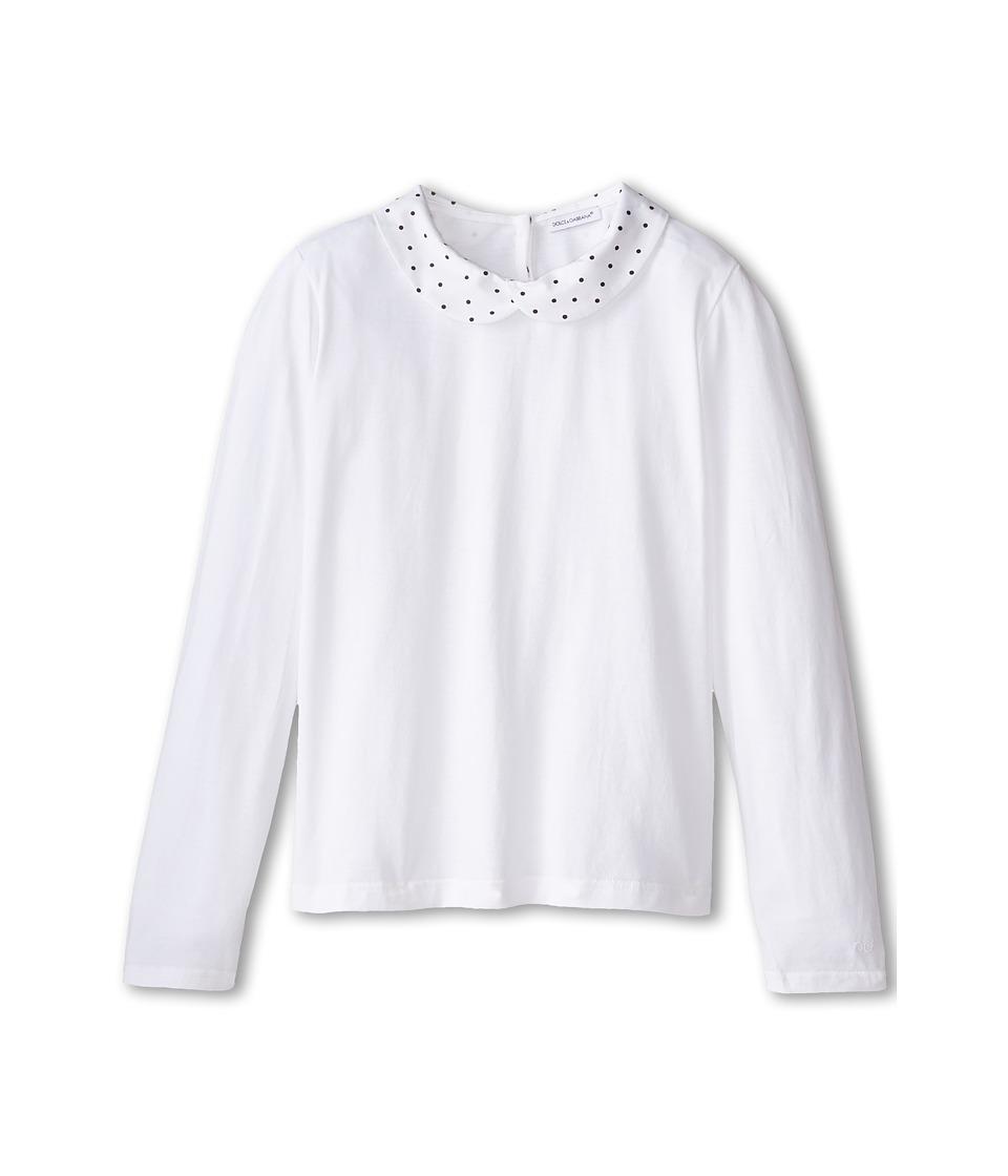 Dolce & Gabbana Kids - Back to School Collared T-Shirt (Big Kids) (Multi) Girl's T Shirt
