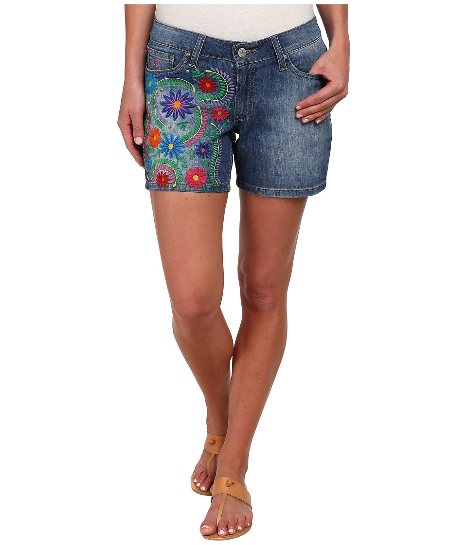 Gypsy SOULE - JJ Embroidered Shorts (Denim) Women's Shorts