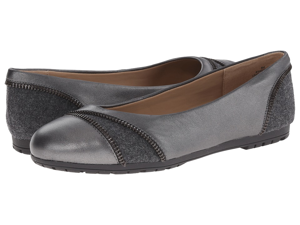 Easy Spirit - Arielle (Dark Pewter/Dark Grey Leather) Women