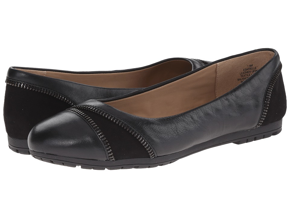 Easy Spirit - Arielle (Black/Black Leather) Women