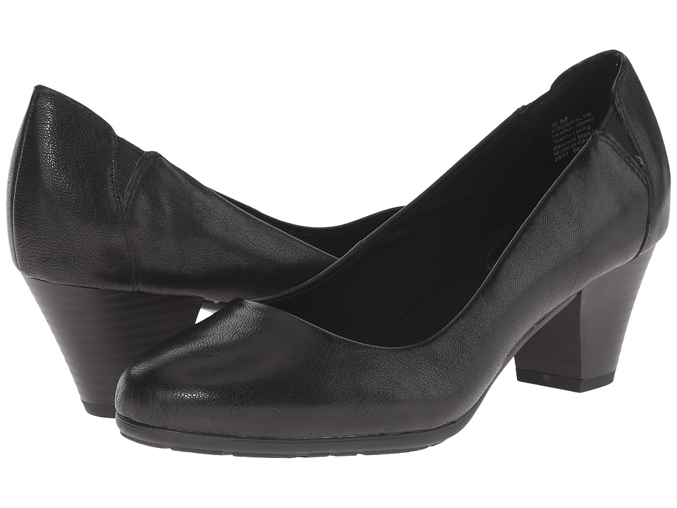 Easy Spirit - Coralyn (Black Leather) Women's Shoes