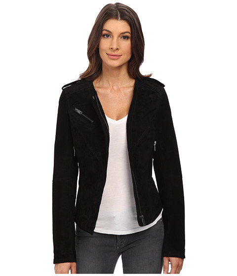 Blank NYC - Collarless Jacket (Black) Women's Coat