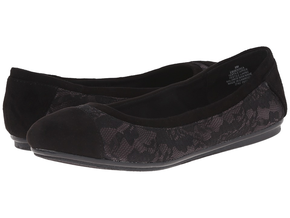 Easy Spirit - Gessica (Black Combo Fabric) Women's Slip on Shoes